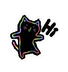 虹色の黒ねこ(個別スタンプ:2)