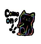 虹色の黒ねこ(個別スタンプ:3)