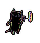 虹色の黒ねこ(個別スタンプ:14)