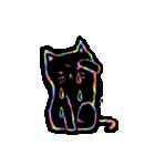 虹色の黒ねこ(個別スタンプ:15)