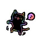 虹色の黒ねこ(個別スタンプ:22)