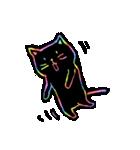 虹色の黒ねこ(個別スタンプ:28)