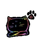 虹色の黒ねこ(個別スタンプ:29)