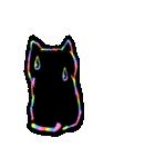 虹色の黒ねこ(個別スタンプ:30)