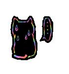 虹色の黒ねこ(個別スタンプ:31)