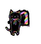 虹色の黒ねこ(個別スタンプ:35)