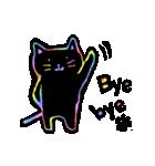 虹色の黒ねこ(個別スタンプ:40)