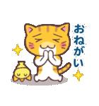 困り顔の茶トラ猫(個別スタンプ:25)