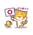 困り顔の茶トラ猫(個別スタンプ:31)