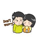 Happy Family(ENG)(個別スタンプ:35)