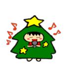 ハングルクリスマスツリー君 楽しむ準備OK(個別スタンプ:03)