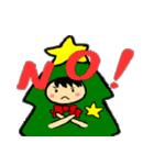 ハングルクリスマスツリー君 楽しむ準備OK(個別スタンプ:09)