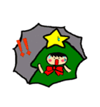 ハングルクリスマスツリー君 楽しむ準備OK(個別スタンプ:18)