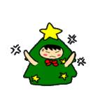 ハングルクリスマスツリー君 楽しむ準備OK(個別スタンプ:22)