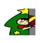 ハングルクリスマスツリー君 楽しむ準備OK(個別スタンプ:34)