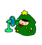 ハングルクリスマスツリー君 楽しむ準備OK(個別スタンプ:40)