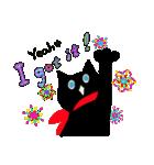 しあわせな黒猫の絵本(個別スタンプ:05)
