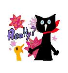 しあわせな黒猫の絵本(個別スタンプ:23)