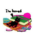 しあわせな黒猫の絵本(個別スタンプ:25)
