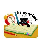 しあわせな黒猫の絵本(個別スタンプ:35)