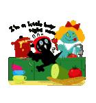 しあわせな黒猫の絵本(個別スタンプ:36)