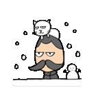 ヒゲおじさんと猫 その3(個別スタンプ:03)
