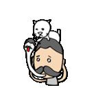 ヒゲおじさんと猫 その3(個別スタンプ:11)