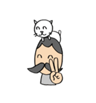 ヒゲおじさんと猫 その3(個別スタンプ:17)