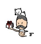 ヒゲおじさんと猫 その3(個別スタンプ:35)