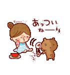 夏に使える『女の子×アニマル』(個別スタンプ:03)