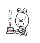 ゴリラ顔のウサギ(個別スタンプ:31)
