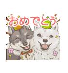 6犬種の日本犬スタンプ(個別スタンプ:39)
