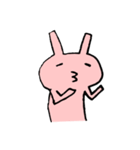 てきとうウサギの脱力スタンプ(個別スタンプ:21)