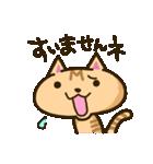 茶猫エム(個別スタンプ:8)