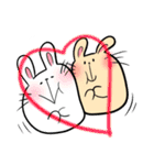 白うさ茶うさ(個別スタンプ:36)
