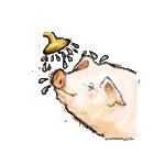 ぶたくんたちの生活(個別スタンプ:08)