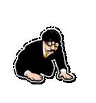 髭メガネ 装着義務 1(個別スタンプ:24)