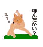 柴田さんと近所の犬。(個別スタンプ:32)