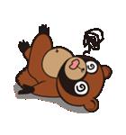 動物キャラナビランドスタンプ Ver.たぬき(個別スタンプ:18)