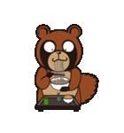 動物キャラナビランドスタンプ Ver.たぬき(個別スタンプ:40)