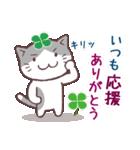 猫と四つ葉のクローバー 3(個別スタンプ:09)