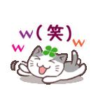 猫と四つ葉のクローバー 3(個別スタンプ:26)