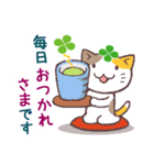 猫と四つ葉のクローバー 3(個別スタンプ:30)