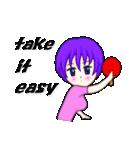 萌え丘高校 女子卓球部(個別スタンプ:07)