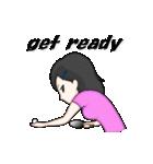 萌え丘高校 女子卓球部(個別スタンプ:09)