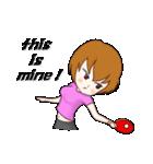 萌え丘高校 女子卓球部(個別スタンプ:11)