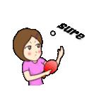 萌え丘高校 女子卓球部(個別スタンプ:13)