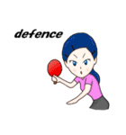 萌え丘高校 女子卓球部(個別スタンプ:27)