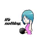 萌え丘高校 女子卓球部(個別スタンプ:37)