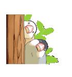 文鳥のスタンプ(個別スタンプ:04)